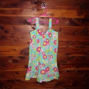 girls floral dress with ruffles